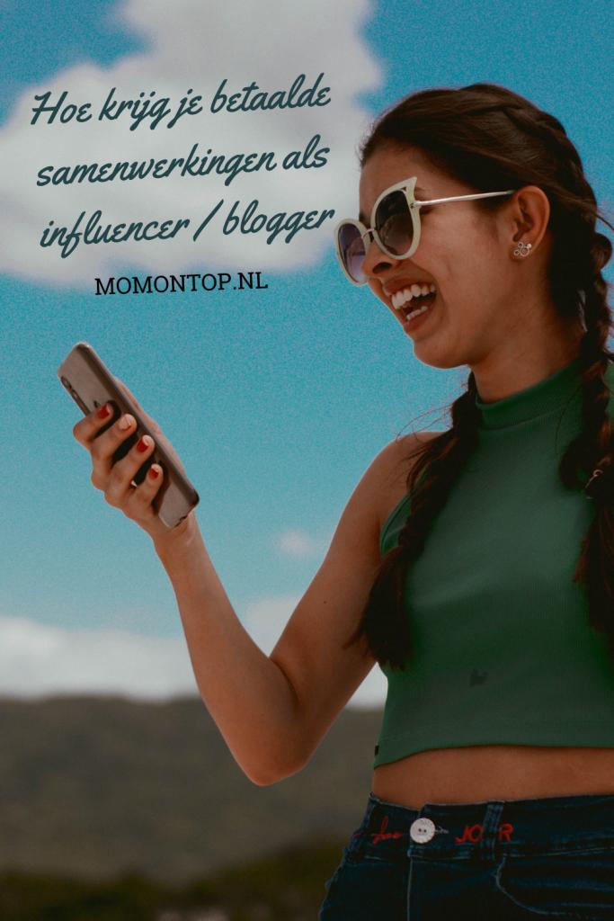 betaalde samenwerkingen blogger / instagram